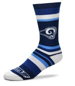 Los Angeles Rams NFL Rainbow Stripe Crew Socks FBF