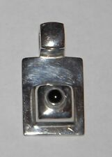 SILPADA - S0638 - Sterling Silver Pendant with Black Onyx Center