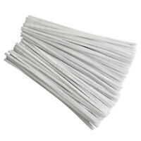 100 Pcs 30cm creation pipe cleaners, white A4A2