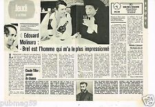 Coupure de presse Clipping 1979 (2 pages) Edouard Molinaro