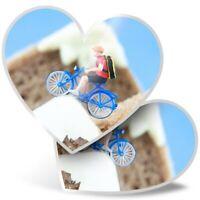 2 x Heart Stickers 10 cm - ny Mini Cyclist on Toast  #3472