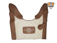 DAF 105xf / 106xf ECO LEATHER engine cover beige&light brown + embroidery
