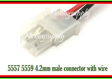 4.2mm 5557 2P Female Connector 18AWG 30cm wire For PCB Automotive Computer x 10
