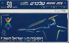 ISRAEL BEZEQ BEZEK PHONE CARD TELECARD 50 UNITS 1997 WORLD MACCABIAD