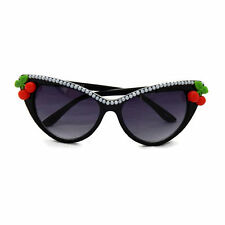 Rockabilly Cherry and Pearls Cat Eye Sunglasses, Retro, Pinup, Vintage Style