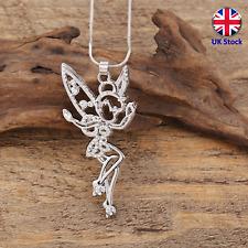 Tinkerbell Fairy Pendant Necklace - Peter Pan - UK Stock
