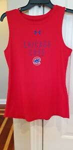 BRAND NEW!! WOMEN'S UNDER ARMOUR CHICAGO CUBS (RED) TRI-BLEND PERFORMANCE TANK