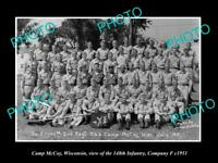 OLD LARGE HISTORIC PHOTO OF CAMP McCOY WISCONSIN, THE 148th OHIO INFANTRY 1951 2