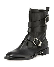NEW! Alexander Wang Louise Leather Moto Boots Strappy 39 MEN