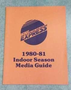 DETROIT EXPRESS NASL SOCCER MEDIA GUIDE - 1980 1981 - LAST YEAR - TOUGH TO FIND