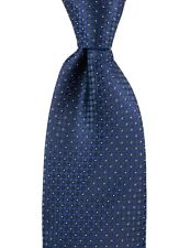 Men's ITALO FERRETTI Blue Black Polka Dot 100% Silk Neck Tie NWT $250!