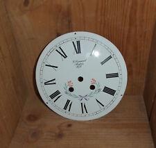 Très ancien cadran d'horloge Comtoise émaillé 1871 Morbier Jura 23cm