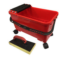 Grout Caddy Bucket Cleaning System With Sponge Trowel