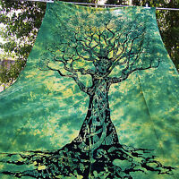 Twin Indian Tree Of Life Tie Dye Tapestry Hippie Wall Hanging Bedspread Throw A+