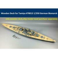 WWII Battleship Bismarck Model Wooden Deck For Tamiya German 78013 1/350 H1Q4