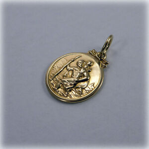 9ct Gold St Christopher Charm