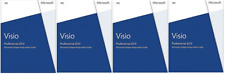 Microsoft Office Visio Pro 2013 DVD * 4 pcs