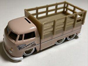 JADA TOYS 1:64 Loose 1963 VW Volkswagen Stake Bed 6-wheel Dirty Muddy Truck