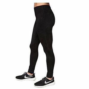 Kirkland Signature Ladies' Active Legging Pant, Black/Grey Brushstroke Pattern