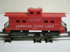 "OLD "" S "" GAUGE ""AMERICAN FLYER "" # 24636 RED CABOOSE-RADIO EQUIPPED-NICE"