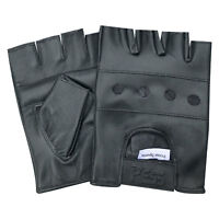 Prime Leather fingerless men weight training cycling wheelchair gloves black 501