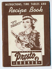 1940 National Presto Cooker Recipe and Instruction Book, 42 pages