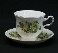 Queen Anne Tea cup & Saucer English Bone China Shamrock