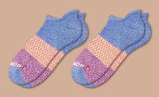 2-Pack Marled-Violet-Magenta Tri-Color Bombas Men's Ankle Socks  Size Medium