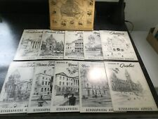 1949 Canada Provincial Geographic Aspects Booklets Deluxe Boxed Set Lot of 10