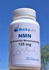 NMN Nicotinamide Mononucleotide 125mg 30 caps, boost NAD+