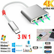 USB 3.1 Type C to HDMI HDTV TV Cable Adapter Converter For Macbook Android Phone