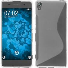 Silicone Case for Sony Xperia XA S-Style transparent + protective foils