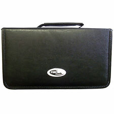 1 x NEO media capacità 120 CD DVD WALLET LEATHER Storage CARRY CASE