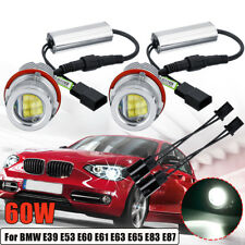 2x 60W Angel Eyes Halo Marker LED Light Bulb For BMW E39 E53 E60 E63 E65 E87