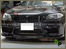BMW F10 M5 Sedan 2012-2016 HM Style Carbon Fiber Front Bumper Add on Lip