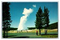 Yellowstone National Park, WY Wyoming, Old Faithful Geyser, Unposted Postcard
