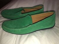 Austen Heller Moc Loafers Driving Shoes Mens Size 9. Kelly green/Navy Sole