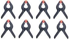 "8 x Plastique Ressort Pinces Grips Clips Market Stall 2 1/2 ""Micro Petite"