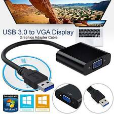 USB 3.0 to VGA External Graphic Card Video Converter Adapter for Win7/8/10 1080P