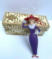 """RED HAT SOCIETY CHRISTMAS ORNAMENT 5"""" TALL EUC"""