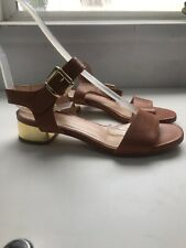 Alberto Guardiani Size 3/35 Tan Gold Heel Sandals Casual Wear Ladies Summer