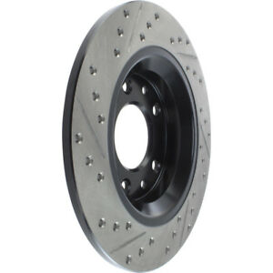 Disc Brake Rotor-Sport Drilled/Slotted Disc Rear Left Stoptech 127.45064L