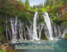 California - McArthur–Burney Falls - Travel Souvenir Flexible Fridge Magnet