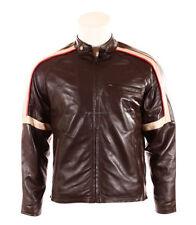 Abrigos y chaquetas de hombre motera de piel color principal marrón