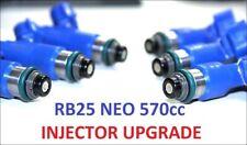 6 x 570CC Fuel Injectors for NISSAN / NISMO SKYLINE R34 RB25DET NEO DENSO ER34