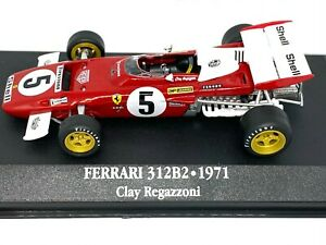 1:43 scale Atlas Editions Ferrari 312B2 F1 Car - C Regazzoni 1971 Die cast Model