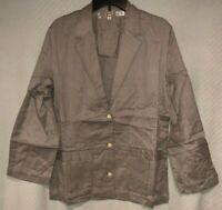 Vintage Women's Marc O'Polo Handwoven Cotton Gray 3-Button Career Jacket Blazer