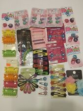 HUGE lot of HAIR JEWELRY Accessories  clips Scunci bands flower pearl pin pins