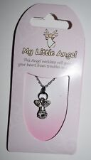 My Little Guardian Angel Austrian Crystal Necklace 16-19'' ~ for all occasions