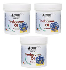 3x Teebaumöl Creme Feuchtigkeitscreme trockene Haut Akne Regeneration Pickel